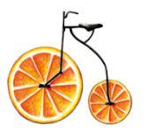 Illustration: Orange Bike